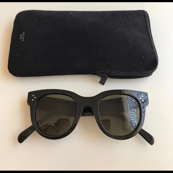 2ae119ed6c5 Celine Accessories - Celine CL41054 S black sunglasses New Audrey Style
